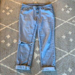 GAP boyfriend cropped jeans